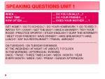 speaking questions unit 11