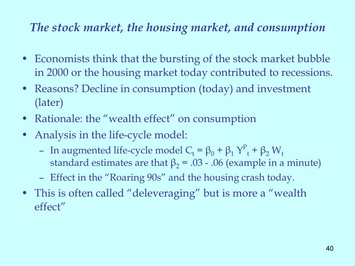 The stock market, the housing market, and consumption