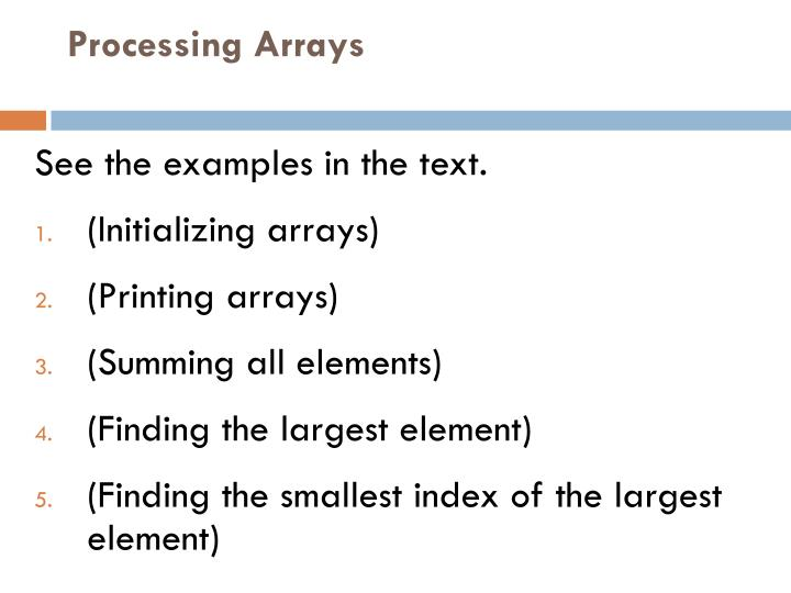 Processing Arrays
