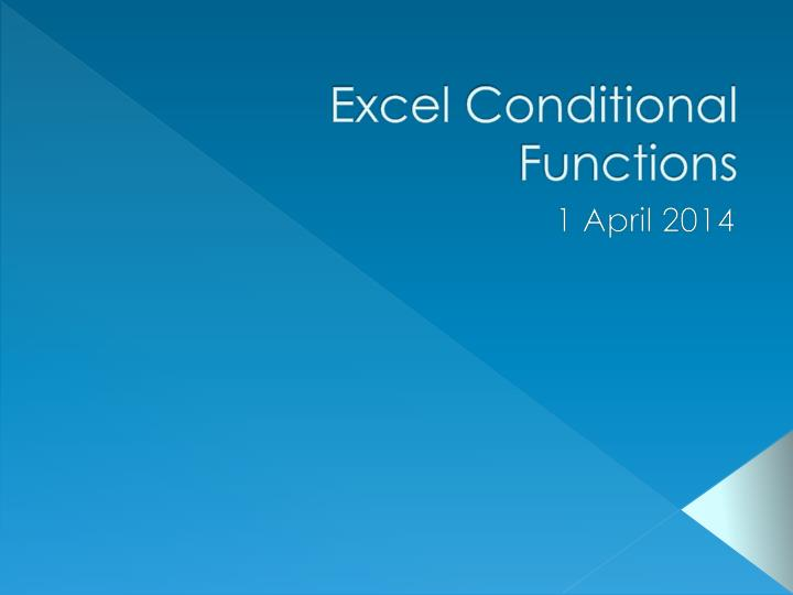 excel conditional functions n.