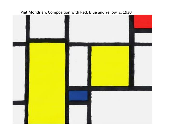 Piet Mondrian, Composition with Red, Blue and Yellow  c. 1930