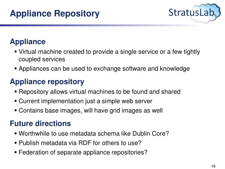 Appliance Repository