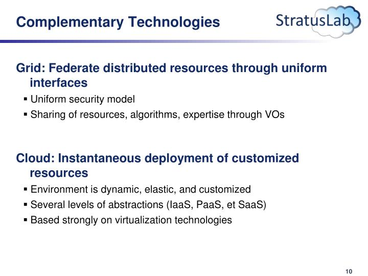 Complementary Technologies