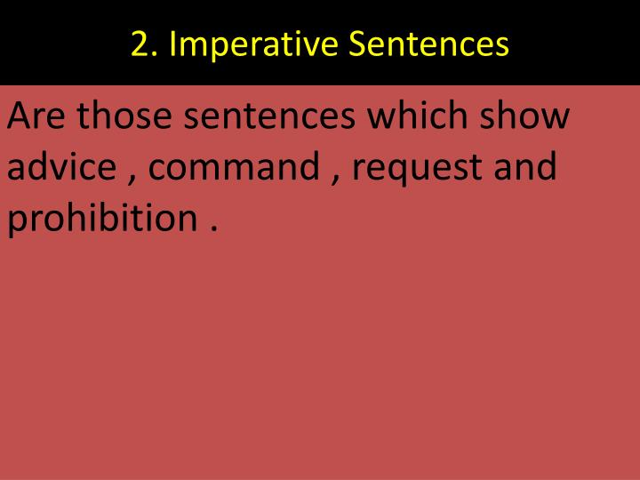 2. Imperative Sentences