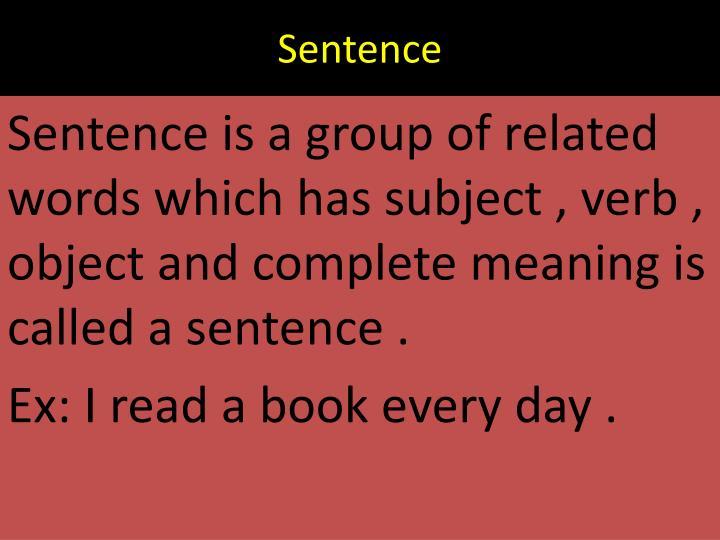 Sentence1