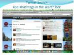 twitter search use hashtags in the search box