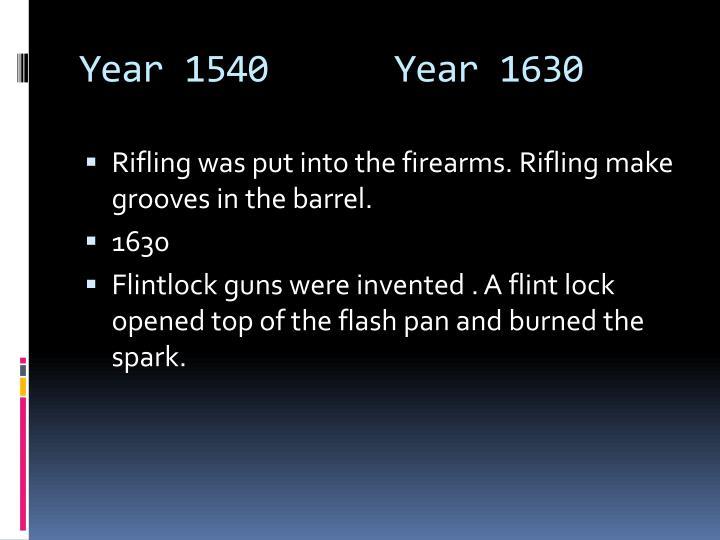 Year 1540      Year 1630