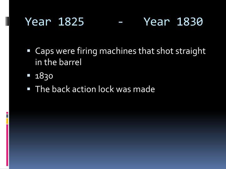 Year 1825     -   Year 1830