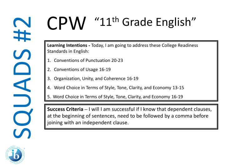 11th grade english essays Course syllabus course title: english 11th grade level course number: credits: 1 credit texts: english leading to professions (2003) writing assignments (essays, compositions, editorial) (5) 100pts each daily assignments/homework 100pts special assignments 100pts 2 oral presentation.