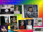kayla nicole kilgore s time line of her life from birth till 11