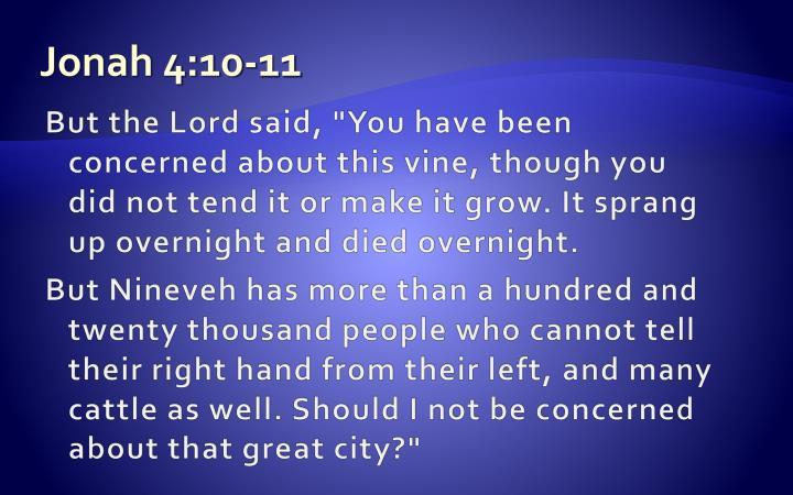 Jonah 4:10-11