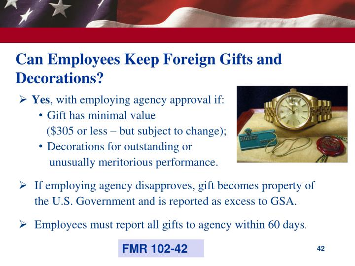 Can Employees Keep Foreign Gifts and Decorations?