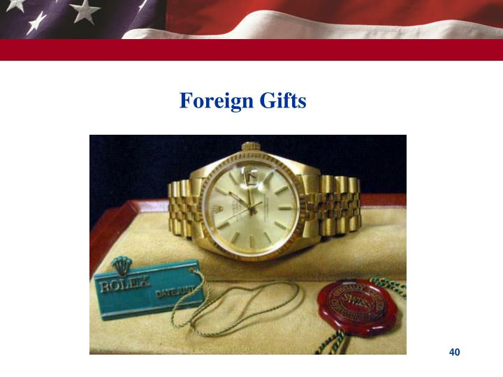 Foreign Gifts