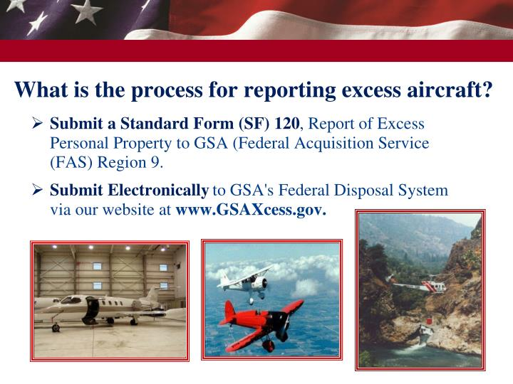 What is the process for reporting excess aircraft?