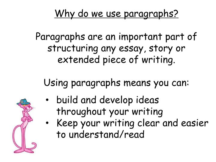 Why do we use paragraphs?
