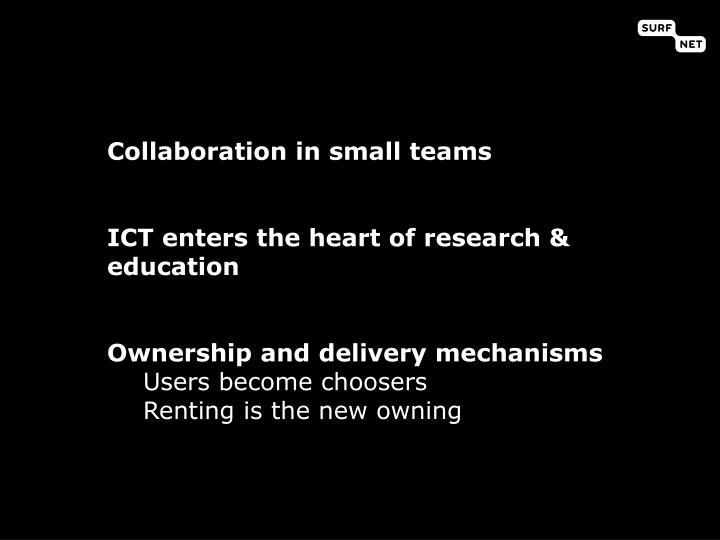 Collaboration in small teams