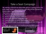 take a seat campaign