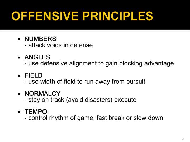 Offensive principles