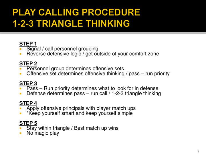 PLAY CALLING PROCEDURE