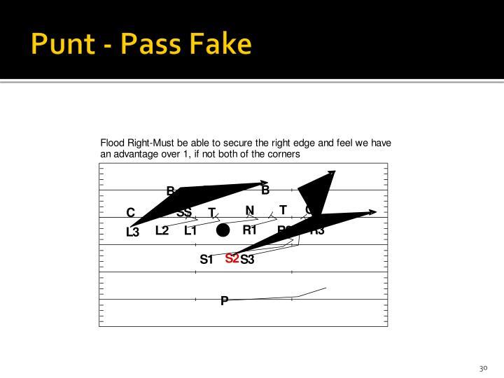 Punt - Pass Fake