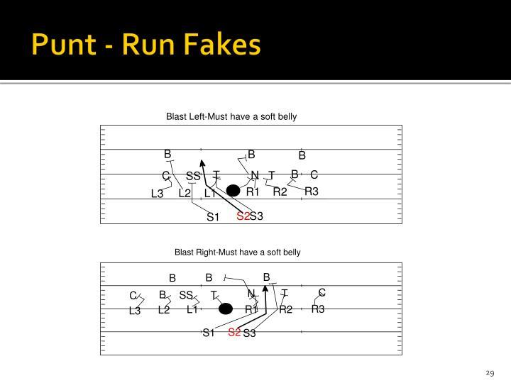 Punt - Run Fakes