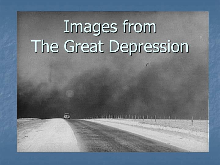 Images from the great depression