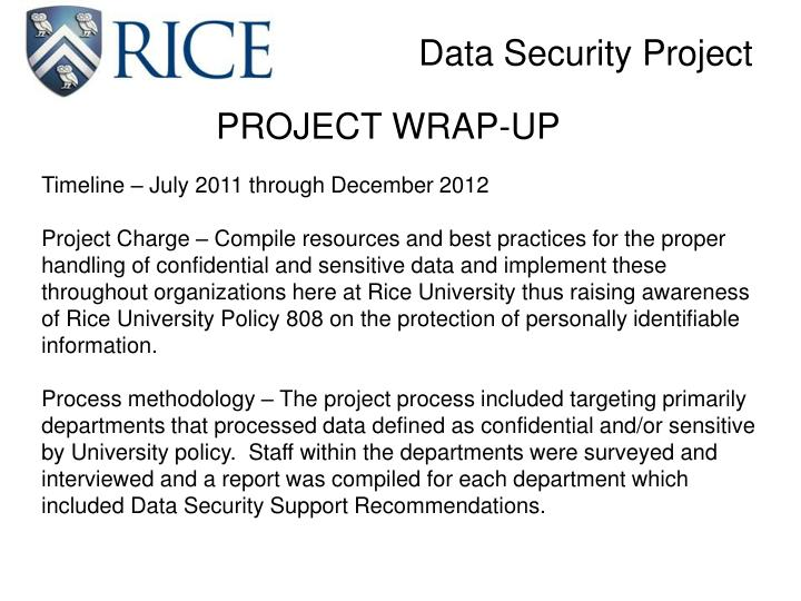 Data security project