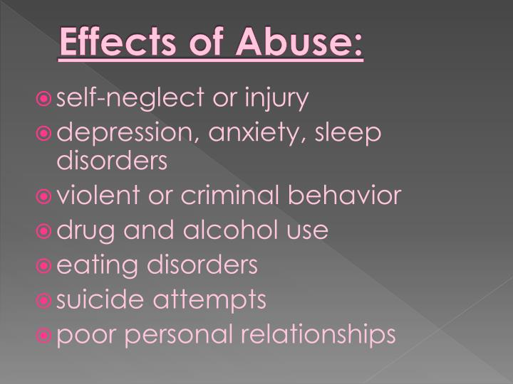 Effects of Abuse: