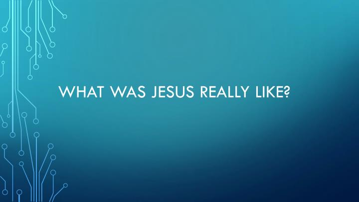 what was jesus really like n.