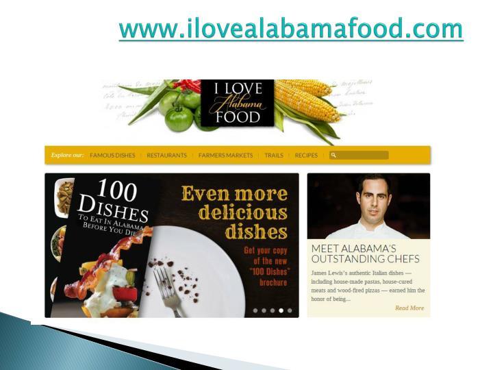 www.ilovealabamafood.com