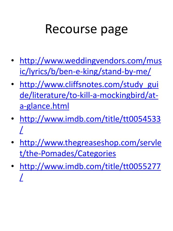 Recourse page