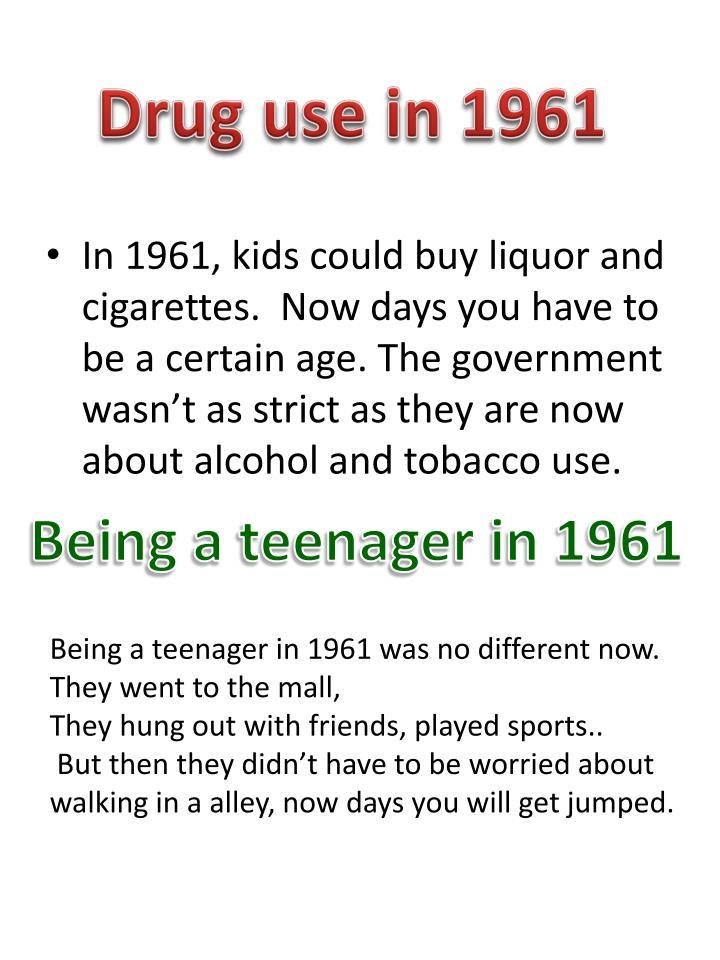 Drug use in 1961