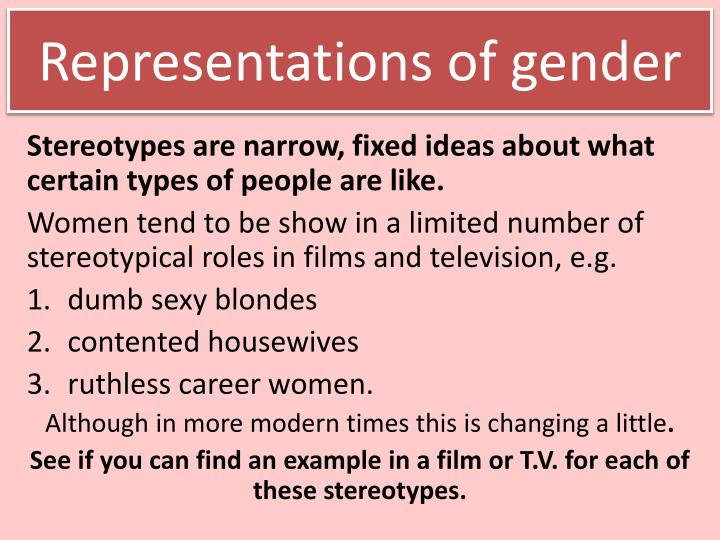 Representations of gender