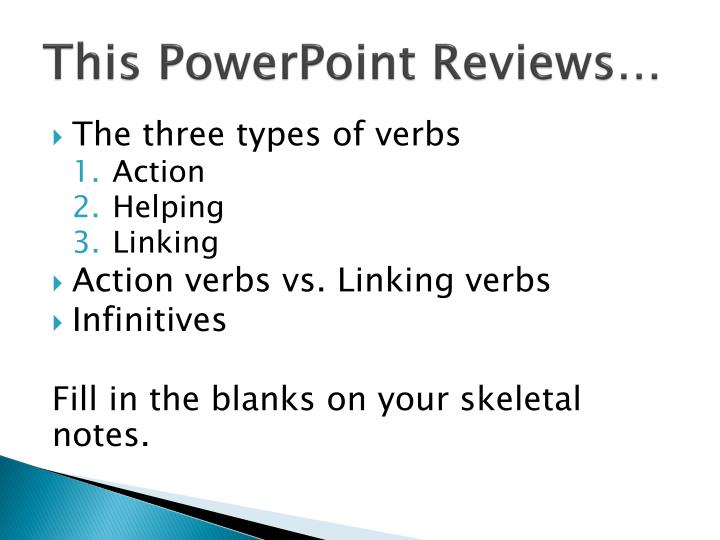 This powerpoint reviews