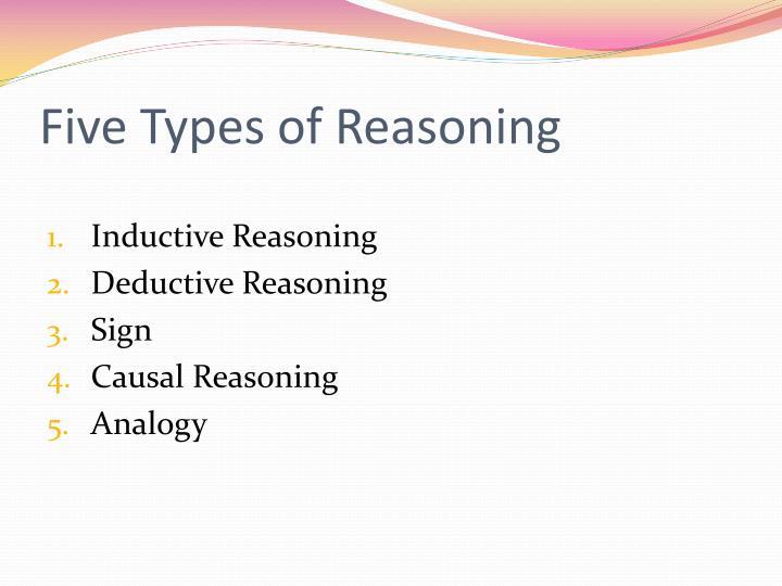 Five types of reasoning