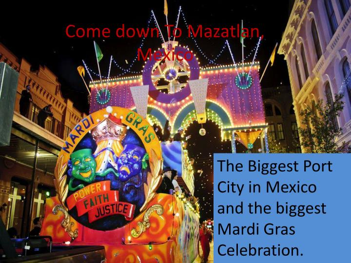 Come down to mazatlan mexico