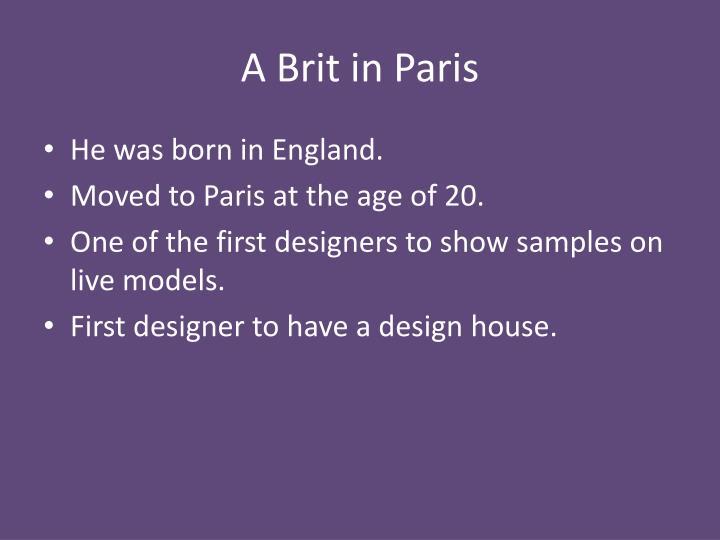 A Brit in Paris