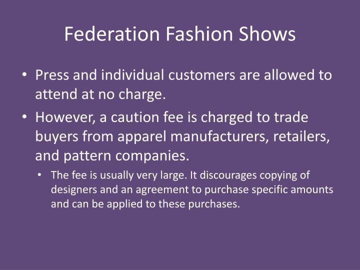 Federation Fashion Shows