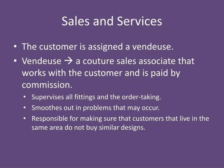 Sales and Services