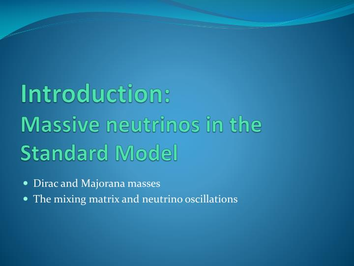 Introduction massive neutrinos in the standard model