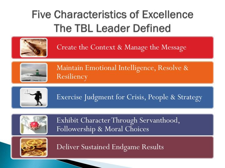 Five Characteristics of Excellence