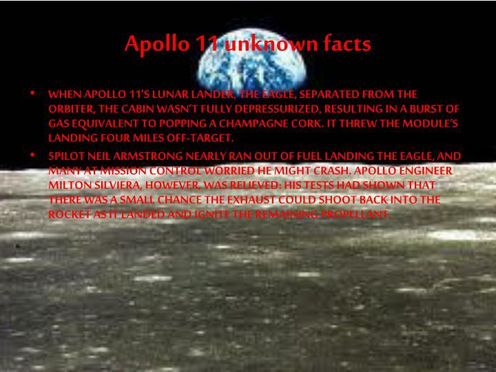 Apollo 11 unknown facts
