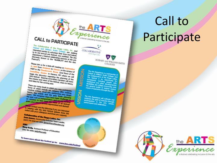 Call to Participate