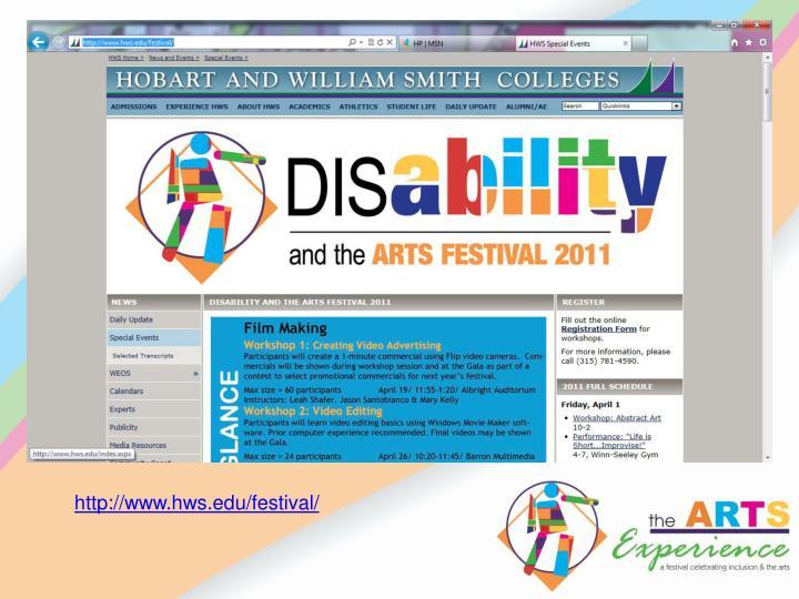 http://www.hws.edu/festival/