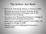 the author ayn rand