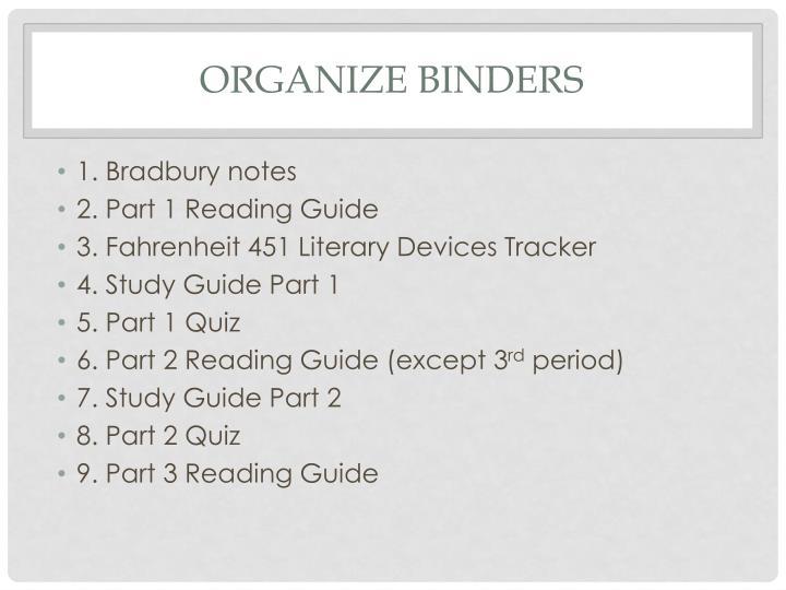 Organize Binders