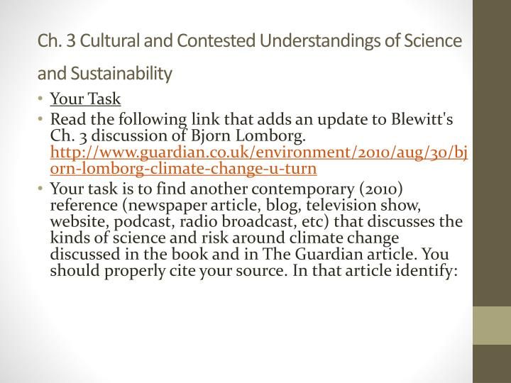 Ch. 3 Cultural and Contested Understandings of Science and Sustainability