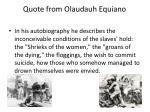 quote from olaudauh equiano