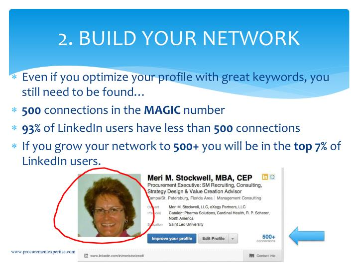 2. BUILD YOUR NETWORK