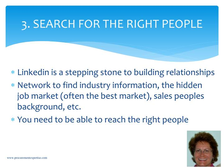 3. SEARCH FOR THE RIGHT PEOPLE